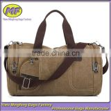 Men Vintage Canvas Leather Vintage Travel Satchel Messenger Tote Fashion Bag