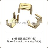 Brass four-jaw bottom stopper No.5 zipper garment accessories