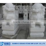 Outdoor Graden White Marble Chinese Dragon Statue Sculptures