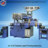 JH-210 automatic barcode label printing machine flatbed adhesive sticker label printing machinery made in china manufacturer