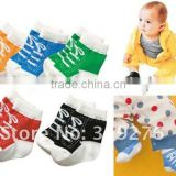 New arrival Anti-slip Walking baby socks red,green,blue,black,yellow JPSOCKS008