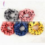 Wholesale Fashion Lovely Star Printed Cotton Children Infinity Scarf 10 Color