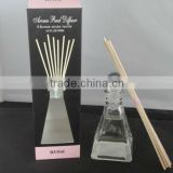 3.6oz/100ml 8 Rattan Sticks inside Rose Aroma Reed Diffuser