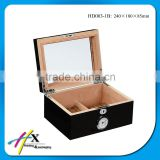 classical wood cigar display cases with humidor