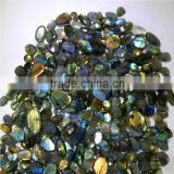 NATURAL LABRADORITE NICE FACETED CHECKERBORD AMAZING BLUE COLOR FIRE & GOOD QUALITY LOT