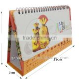 small promotional gift yearly paper table calendar printing