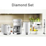 diamond design electric breakfast set include kettle toaster coffee maker hand blender hand mixer
