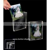 clear acrylic 8x10 double sided glass photo frame
