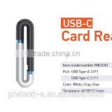 Ultra USB 3.0 Type C Hot Plugging MicroSD Card Reader support OTG designed for smartphones