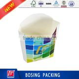 Custom Fast Food Paper Packaging Box/Color printing box for fries /fried chicken/salad/fried shrimp