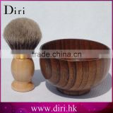 High Quality Wooden Shaving Brush Bowl Shave Soap Cup Mug
