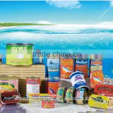 EU approved FDA,Russia registration China factory canned fish tuna chunk flake in brine vegetable oil