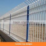 Customize kinds powder coated zinc steel guardrail fence & security gate / zinc steel wrought iron picket decorative fence