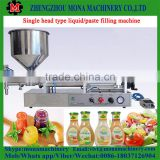 Hot sales semi-auto table top pneumatic oil filling machine honey filling machine cream filling machine with heater and mixer