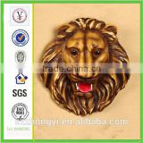 factory custom-made high quality resin lion head sculpture of decoration of houses interior