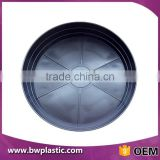 Plastic Potted Plant Tray/Wholesale Cheap Saucers Round Flower Pot Tray/Black Round Plastic Plant Tray