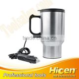 Car Mug Auto Travel Heating Cup With Airtight Lid And Anti-spill Slider 350ML