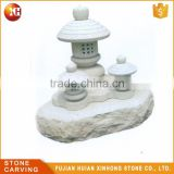 Japanese Style Outdoor Ornament Stone Oyako Lantern