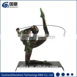 Artistic Gymnastics Leotards Girls Bronze Statue
