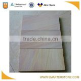 Rainbow color sandstone coping stones bullnose style