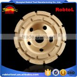 "100mm double row diamond grinding wheel 4"" abrasive polishing disc concrete granite marble double cup wheel"