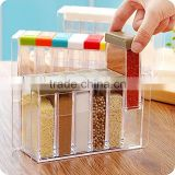 food grade 6 pics plastic spice jar shaker seasoning bottle , Condiment holder/ container