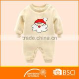 Christmas Cartoon Santa Clause Pattern Baby Clothes Romper
