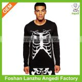 High Quality Long Sleeve T-Shirt With Rib Cage Print