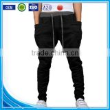 OEM bulking buy closed bottom polyester/cotton yarn custom mens cargo baggy pants with side pockets