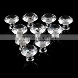 1pack/10 Pcs 30mm Diamond Shape Crystal Glass Drawer Cabinet Knobs and Pull Handles Kitchen Door Wardrobe Hardware Accessories