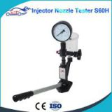 Diesel Injector Nozzle Pop Tester fuel injector nozzle tester with 0 - 400 BAR / 0 - 6000 PSI Dual Scale Gauge
