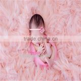 Newborn Faux Fur suffer posing fur Baby wool blanket layer backdrop Long pile nest filler photography props Background