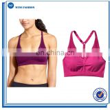 2017 New Fashion Hot sales women top wholesale sports polyester bra