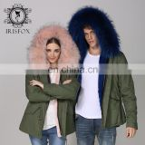 Luxury OEM&wholesale fashion real rabbit fur coat raccoon hair hooded