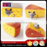 Lovely soft vinyl toy mouse in cheese cake