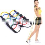 Gymnastic 8 Shape Powerlifting Workout Elastic Resistance Tube Band