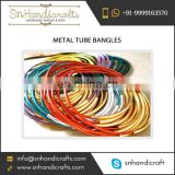 Superior Quality Top Selling Metal Tube Bangles at Good Price
