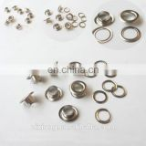 Wholesale factory metal silver brass eyelet button for clothing