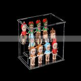 Lucite Acrylic Toys Collectibles Display Stand Box, Mini Figure Clear Plastic Display Case