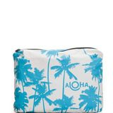 full printed cosmetic bag for beach and travel