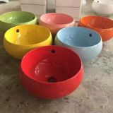 Made in china colorful ceramic small ceramic tabletop round basin sink