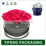 Luxury paper tube gift packaging hat flower boxes
