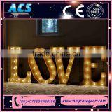 ACS High quality wedding/party decoration lighted giant love letters