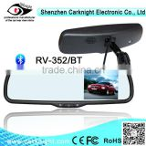 2014 best selling product car bluetooth rearview mirror with fm transmitter bluetooth custom outside rear view mirror