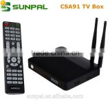 Android 5.1 Smart TV Box CSA90 4k CSA91 8 Core With RK3368 Chipset iptv Set Top box satellite Android receiver no dish