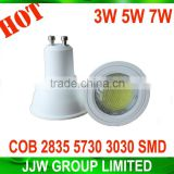 Energy saving led spotlight ra>85 2835 5050 5630 smd 2800k 3000k warm white 3W track light spot with high quality