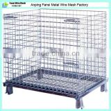 Galvanized steel 4 layer stacking foldable storage cage(Factory)