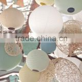 Garden Party Decoration Assorted Colorful 20cm,25cm,30cm,35cm,40cm Round Ball Paper Lanterns