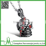 High quality stainless steel hip hop CZ pendant hot sale metal necklace jewellery                                                                                                         Supplier's Choice