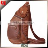 Fashion Casual School leather Cross Body Chest Sling Bag for Teenagers youn men chest shoudler bag                                                                         Quality Choice